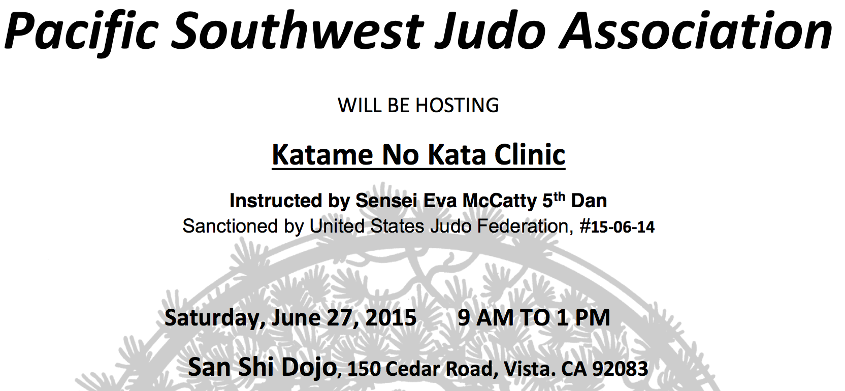 2015 May : Pacific Southwest Judo Association